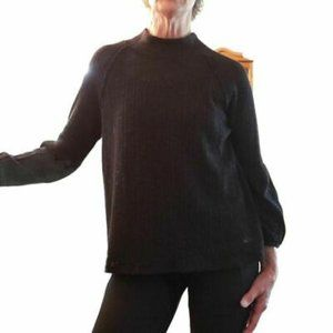 White Willow Womens Sweater Mock Neck Stretch M